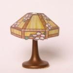 Bodo Hennig 26342 - Tischlampe Tiffany gelb für Puppenhaus