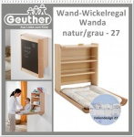 "GEUTHER 4871 - Wand Wickelregal "" Wanna"" natur Folie 27"
