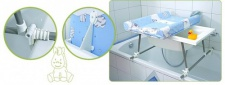 "Geuther - Bade-Wickel-Kombination "" Aqualight"" mit Badewanne, Design 97"