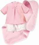 Käthe Kruse 36604 - Puppenbekleidung - Spielset mit Windelhose und Tuch, 30-33 cm