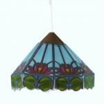Bodo Hennig 26308 - Hängelampe Tiffany blau für Puppenhaus