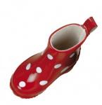 Käthe Kruse 54562 - Puppenschuhe Gummistiefel rot mit weißen Punkten Gr. 54 (33364)