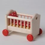 Bodo Hennig 21312 - Kinderbett m. Bettzeug für Puppenstube