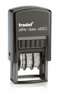 "Trodat Printy 4850 L9 Datumsstempel "" GEFAXT"""