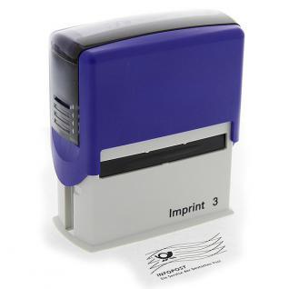 """Stempel Freimachungsvermerk """"Infopost"""" Dormy Imprint 3"""