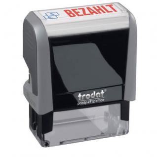 """Trodat Office Printy 4912 Text: """"Bezahlt"""" + Symbol"""