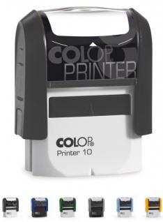 Colop Printer 10N (27 x 10 mm / 3 Zeilen) Abdruckfarbe Schwarz
