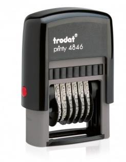 Trodat Printy 4846 Ziffernbänderstempel 6-stellig ZH 4 mm
