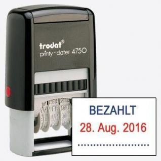 Trodat Printy 4750 Bezahlt+Datum (TT.MMM.JJ) - Vorschau 2