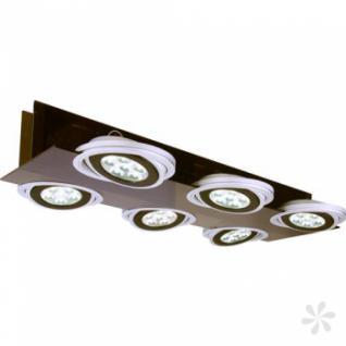 Deckenleuchte aus schwarzem Acrylglas, Metall in matt-silber, LED, drehbar - Vorschau