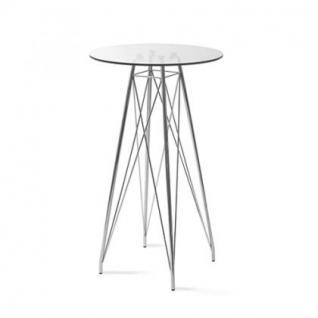 Bartisch modern glas metall design