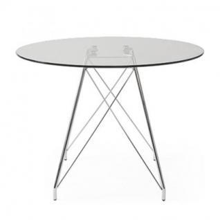 Tisch modern glas metall design - Vorschau 2