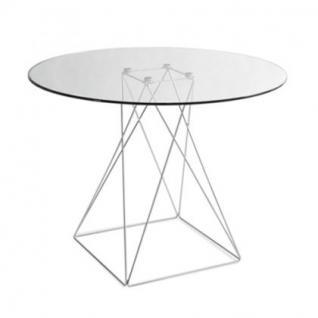 Tisch modern rund Glas Tischplatte