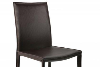 Stuhl aus echt Leder in drei Farben: weiss, schwarz und braun - Vorschau 5