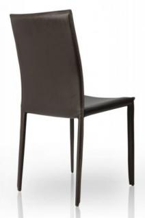 Stuhl aus echt Leder in drei Farben: weiss, schwarz und braun - Vorschau 4