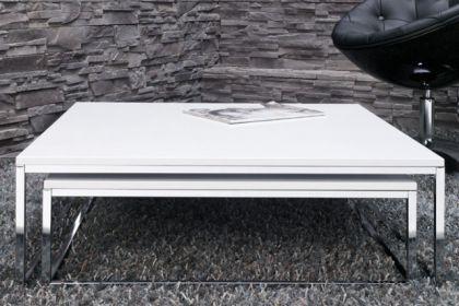 moderner couchtisch 2er set in wei kaufen bei richhomeshop. Black Bedroom Furniture Sets. Home Design Ideas