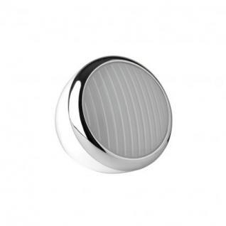 Tischleuchte Metall chrom Kunststoff weiß modern - Vorschau 1