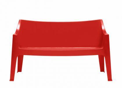 Design Sofa Kunststoff rot Outdoor geeignet