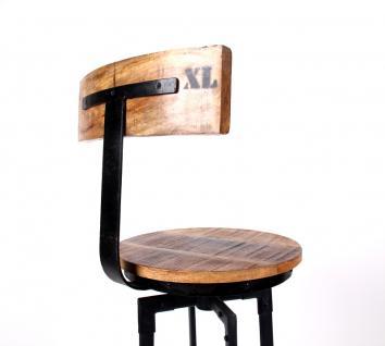 Barhocker, Tresenhocker im Industriedesign aus Akazienholz und Metall, 76 cm Sitzhöhe - Vorschau 2