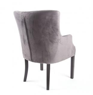 Sessel Grau Gepolstert Stuhl Grau Im Landhausstil Kaufen Bei
