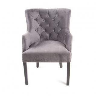 Sessel Grau Gepolstert Stuhl Im Landhausstil Vorschau 5