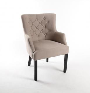 Sessel Farbe leinen, Stuhl gepolstert im Landhausstil