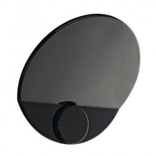 Wandleuchte Aluminium schwarz hochglänzend