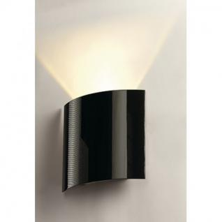 Wandleuchte Aluminium/ Stahl schwarz hochglänzend - Vorschau 2