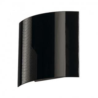 Wandleuchte Aluminium/ Stahl schwarz hochglänzend