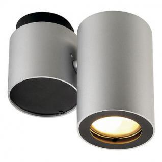 Deckenleuchte/ Strahler Aluminium/ Stahl silbergrau/schwarz - Vorschau 1