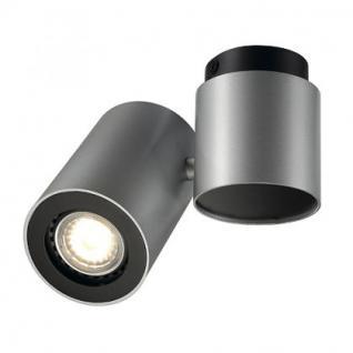 Deckenleuchte/ Strahler Aluminium/ Stahl silbergrau/schwarz - Vorschau 2