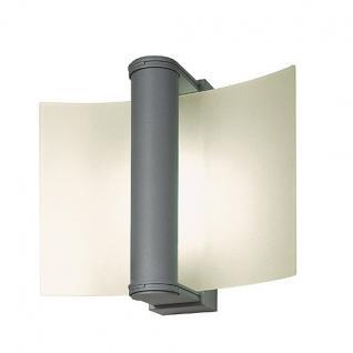 Wandleuchte Aluminium/ Glas - Vorschau