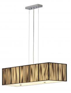 Pendelleuchte Stahl, satiniertes Glas - Vorschau