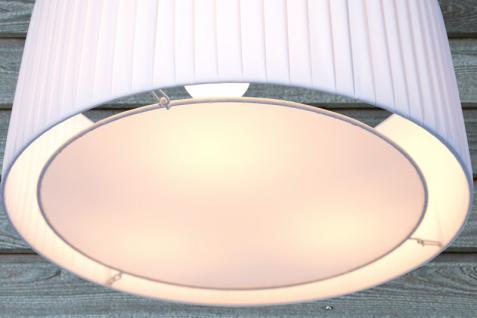 Moderne Pendelleuchte , 65 cm Durchmesser, Farbe: weiss - Vorschau 2
