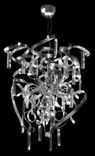 Pendelleuchte Metall chrom/ aluminium Kristall transparent dimmbar modern