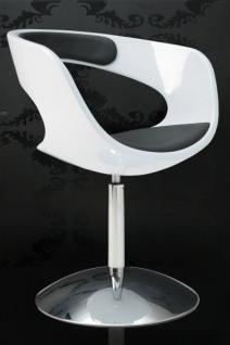 Design Sessel modern in weiß / schwarz - Vorschau 1