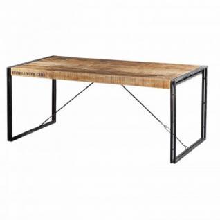 Esstisch aus Massivholz im Industriedesign 180 cm