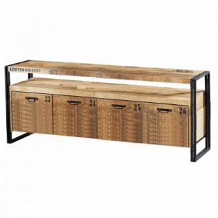 couchtisch aus akazienholz im industriedesign 110 cm breit kaufen bei richhomeshop. Black Bedroom Furniture Sets. Home Design Ideas