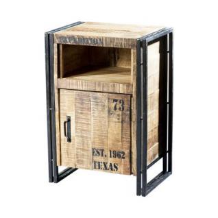 beistelltisch schubladen kommode aus massivholz 80 cm. Black Bedroom Furniture Sets. Home Design Ideas