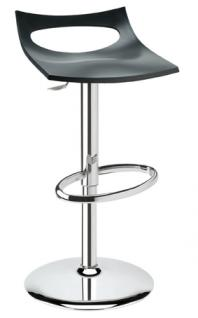 Design Bar-Tresenhocker, Stahl, Chrom, Anthrazit