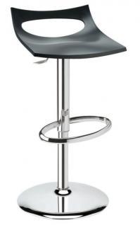 Design Barhocker anthrazit Drehbar modern Höhe verstellbar - Vorschau