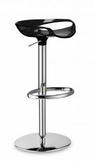 Design Barhocker mit verstellbarer Höhe modern schwarz - Vorschau