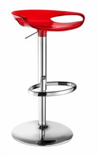 Design Barhocker mit verstellbarer Höhe modern transparent rot