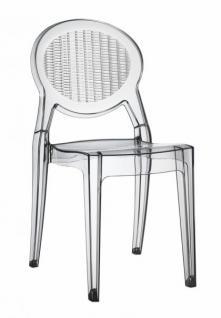 Design Stuhl klassisch modern transparent