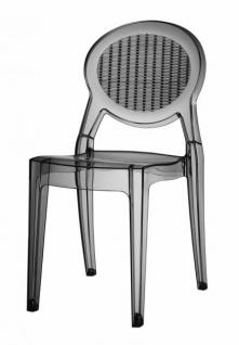 Design Stuhl klassisch modern transparent grau