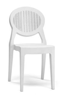 Design Stuhl klassisch modern weiß - Vorschau