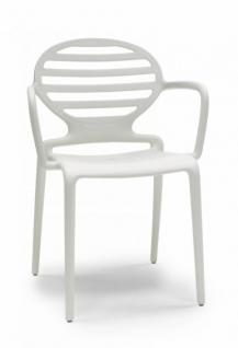 Design Sofa Kunststoff Armlehne leinen