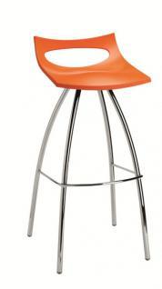 Design Barhocker, Farbe orange, Sitzhöhe 80 cm - Vorschau