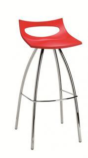 Design Barhocker, Farbe rot, Sitzhöhe 80 cm - Vorschau