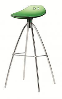 Design Barhocker grün transparent, Sitzhöhe 80 cm